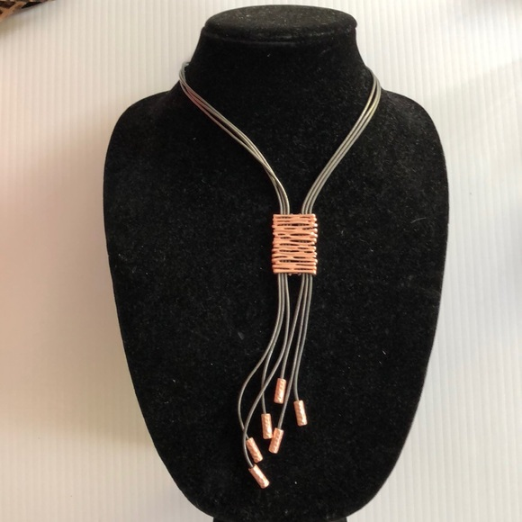 Merx Jewelry - Copper and Leather Necklace